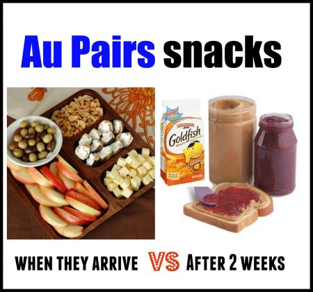 au pair snacks