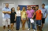 Alumnos y profesor en Fort Lauderdale