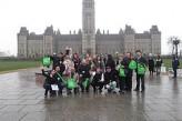 Estudiantes de escursion en Ottawa