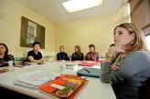 Estudiantes en la escuela de New York