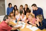 Grupo de estudiantes en Torquay
