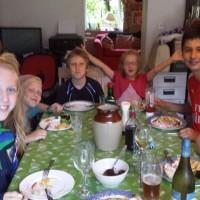 En casa de la familia irlandesa
