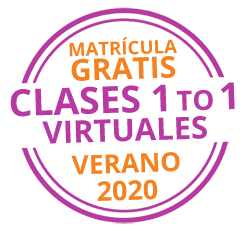 ¡Matrícula gratis clases 1 to 1 virtuales verano 2020!