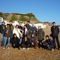 Por la playa de Hastings