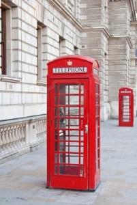 usar el teléfono en Inglaterra