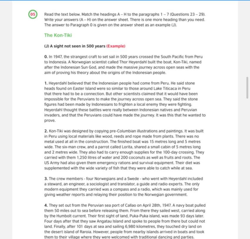 Examen Aptis - Reading — parte 4